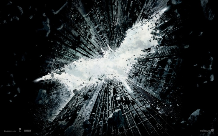 The Dark Knight Rises (and parts of buildings fall)