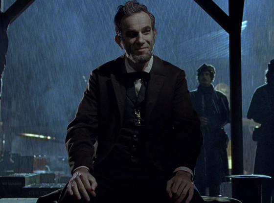 """Daniel Day-Lewis as Lincoln in Lincoln. Funny story: he didn't want to take the role after Liam Neeson gave it up because he didn't think he could handle such a monumental identity. Then good friend Leonardo DiCaprio said, """"Uh, no. Take it."""" So if DDL winds, LDC should also get something."""
