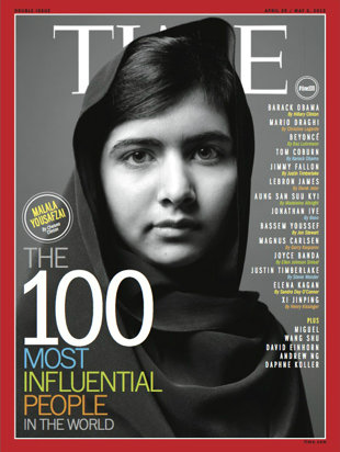 Malala on the cover of Time